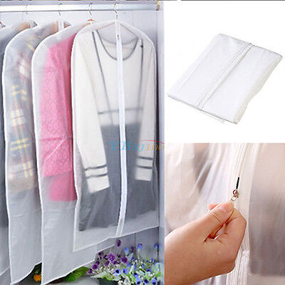 Clothes Dress Garment Cover Bags Dustproof Suit Coat Storage Protector 3 Sizes
