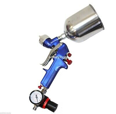 New HVLP 1.7mm Spray Gun Gravity Feed with Air Regulator Paint Primer Nozzle