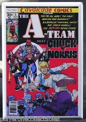 "The A-Team Meet Chuck Norris Comic Book - 2"" X 3"" Fridge / Locker Magnet."