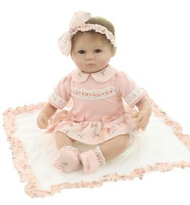 43cm Full Silicone Vinyl body Newbron life like Reborn Baby Girl Doll 22