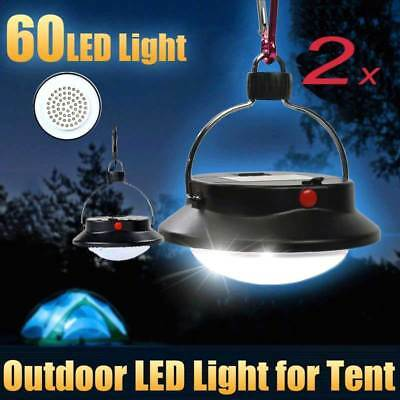 1-2 Portable 60LED Hanging Camping Fishing Outdoor Tent White Light Lamp Lantern
