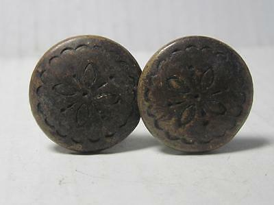 Lot of 2 Antique Phonograph Knobs Vintage Cabinet Pulls Phonograph Parts (#13A)