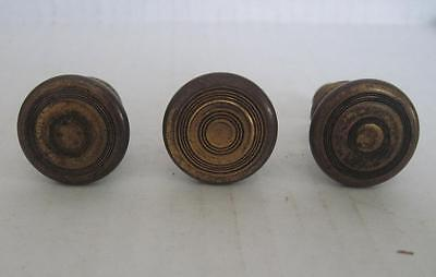 Lot of 3 Antique Phonograph Knobs Vintage Cabinet Pulls Phonograph Parts (#107)