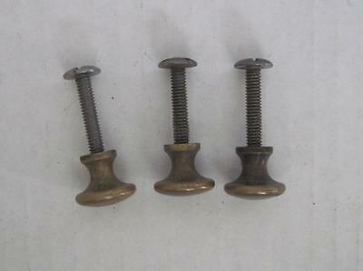 Lot of 3 Antique Phonograph Knobs Vintage Cabinet Pulls Phonograph Parts (#111)