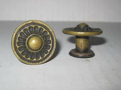 Lot 2 of Antique Phonograph Knobs Vintage Cabinet Pulls Phonograph Parts (#119)