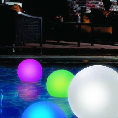 LED Rechargeable Floating Glow Ball Light Lamp 35cm - Colour Changing Moon Orb