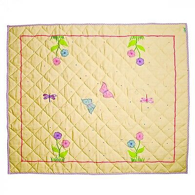 Small / Large Butterfly / Dragonfly Play Mat / Floor Quilt / Rug by Win Green