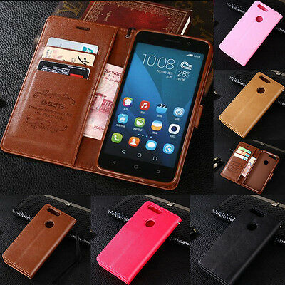 Flip Leather Magnetic Wallet Card Soft Cover Case For Huawei P Smart P10 Lite