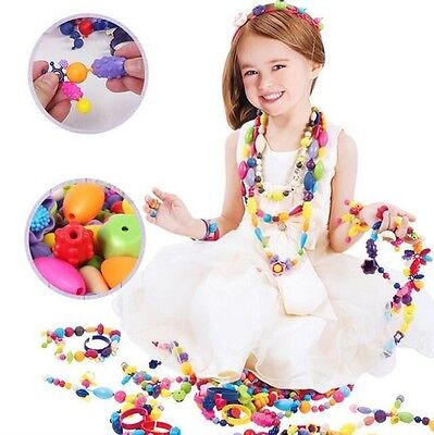 Children DIY Pop-Arty Snaps Conectors Pop Beads Necklace Toys Kids' Xmas Gifts