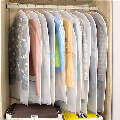 Home Dress Coat Clothes Jacket Suit Cover Bag Dustproof Hanger Storage Protector
