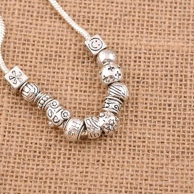 5/10PcsTibetan Silver Big Hole European Charm Spacer Beads for Bracelet Necklace