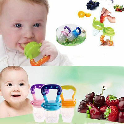 New Baby Food Fruits Soft Nipple Feeder Safety Silicone Pacifier Feeding Tool RF