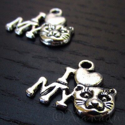 Christmas Tree Wholesale Antiqued Silver Plated Charms C6185-10 20 Or 50PCs