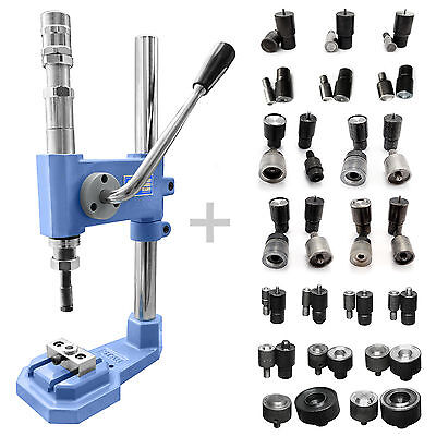 Pack of 19 tools dies and stroke press for eyelets rivets press fasteners S033