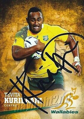✺Signed✺ 2016 WALLABIES Card TEVITA KURIDRANI