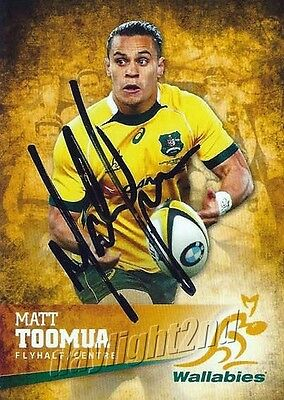 ✺Signed✺ 2016 WALLABIES Card MATT TOOMUA