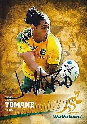 ✺Signed✺ 2016 WALLABIES Card JOE TOMANE
