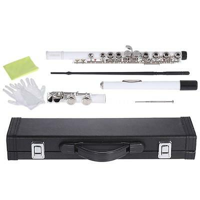Professionals Beginners Close Hole C Flute Cupronickel Nickel Plated Silver X4H3