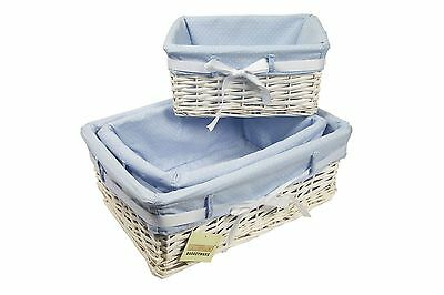 White Willow Wicker Hamper Storage Gift Hamper Basket - In 3 Sizes