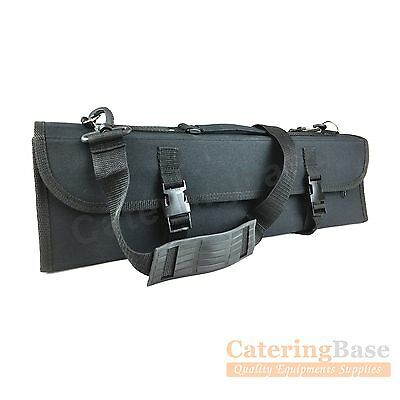 Professional Knife Wallet Knife Case Chef Knives Roll 16 Compartment Black Nylon