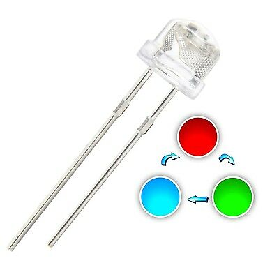 Chanzon 100pcs 5mm LED Light Emitting Diode Lamp RGB Multicolor Changin... , New
