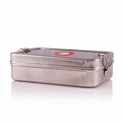 Square Indian-Tiffin Box Stainless Steel with Additional Container