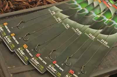 Korda NEW Ready Tied DF Carp Rigs Size 8 Barbless Pack of 5