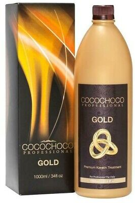 Cocochoco Gold Brazilian Keratin Treatment Blow Dry Hair Straightening 1 Litre