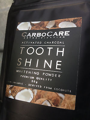 CarboCare Tooth Shine™ Organic Activated Charcoal Coconut Whitening Powder 100g