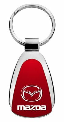 Mazda Red Teardrop Steel Key Chain KCRED.MAZ Fob by Auto Mative Gold