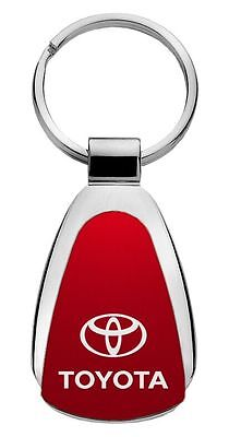 Toyota Red Teardrop Steel  Key Chain KCRED.TOY Fob by Auto Mative Gold
