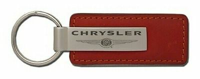 Chrysler Leather Key Chain KC1541.CHR Fob By Automative Gold