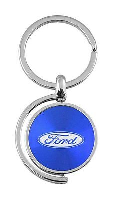 Ford Blue Spinner Fob Key Chain KC1025 For Blu by Automative Gold