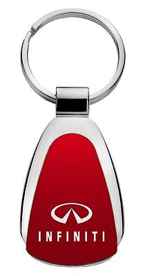 Infiniti Red Teardrop Steel Key Chain KCRED.INF Fob by Auto Mative Gold