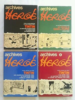 LOT BD - Archives Herge 1 a 4 / EO COMPLET / CASTERMAN