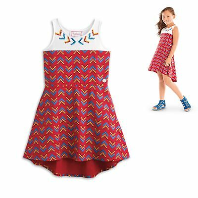 American Girl CL KAYA HIGH LOW HEM Dress Size 8 Small for Girl Native Indian NEW
