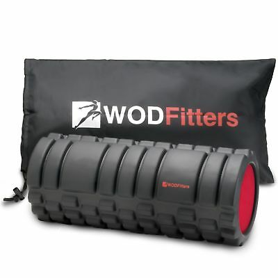 New WODFitters Foam Roller Trigger Point Massage Recovery Mobility | Black Red