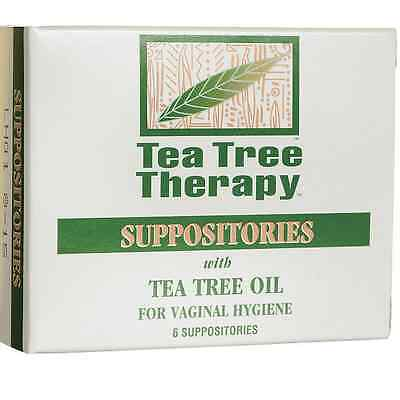 Tea Tree Therapy Vaginal Suppositories | 6 Suppositories