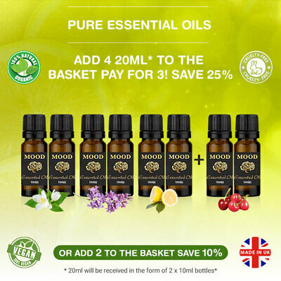 Essential Oils 20ml Aromatherapy Oil Fragrances Pure Natural Organic Diffuser