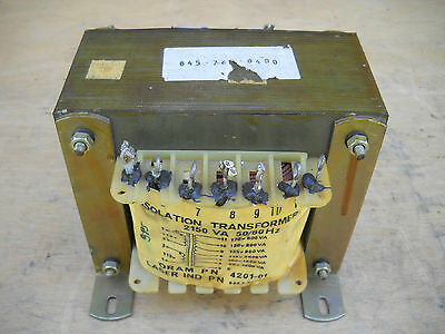 Isolation Transformer 2 KVA Electrostatic Shield Oram Number 4201-01 Multi Tap