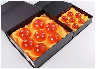 7pcs JP Anime DragonBall Z Stars Crystal Ball Collection Set with Gift Box New #