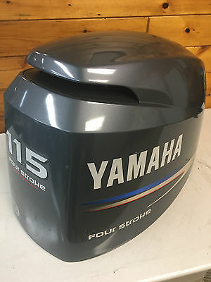 08 Yamaha F 115 Hp 4 Stroke Outboard Hood Top Cowl Cowling Shroud Freshwater MN