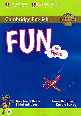 Cambridge English FUN FOR FLYERS Teacher's Book with Audio THIRD EDITION @New@