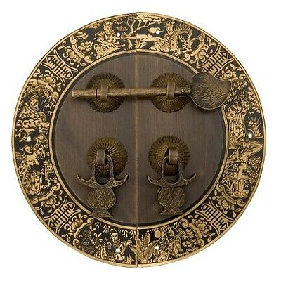 Chinese Brass Hardware Blessings for Long Life Cabinet Face Plate 5-1/2''
