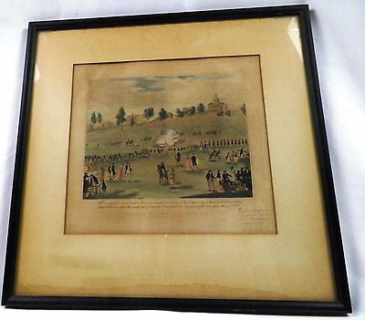 Painting of Boston Troop Review By Pres. Adams Pub. by Charles Goodspeed 1903