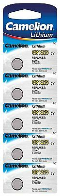 Camelion CR1225 3 V Lithium-Ion Button Cell Battery (Pack of 5)
