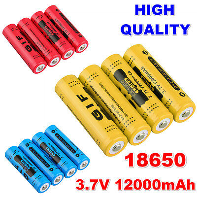 18650 3.7V 12000mAh Rechargeable Li-ion Battery for LED Torch Flashlight P6