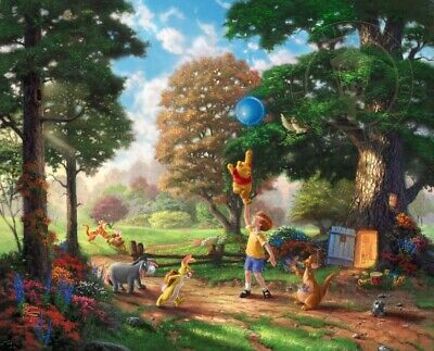 Winnie the Pooh II So Much Better With Two Thomas Kinkade GP 250 16x20 Paper