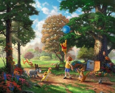 Winnie the Pooh II So Much Better With Two Thomas Kinkade GP 105 24x30 Paper