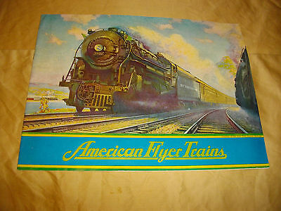 american flyer trains catalog  1937 nice shape look